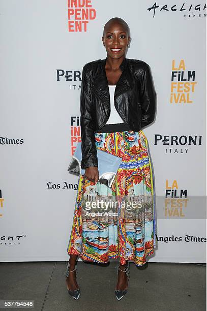 News Corp's Chief Human Resources Officer Keisha SmithJeremie attends the premieres of '72 Hours A Brooklyn Love Story' and 'Virgin Territory' during...