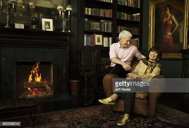 News correspondent Anderson Cooper and mom/socialite Gloria Vanderbilt are photographed for People Magazine on March 16 2016 in New York City...