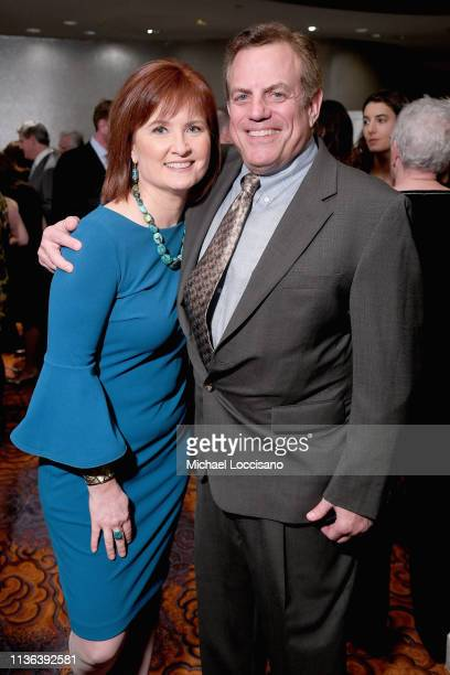 News Correspondent Anna Werner and PHR Board Member Gerson Smoger attend the Physicians for Human Rights 2019 Gala at Mandarin Oriental Hotel on...