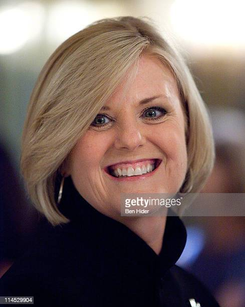 News Correspondent Anne Thompson attends the 8th annual National Audubon Society Women in Conservation luncheon at The Plaza Hotel on May 23 2011 in...