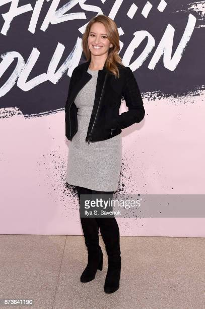 News Correspondent Author Katie Tur poses during Glamour Celebrates 2017 Women Of The Year Live Summit at Brooklyn Museum on November 13 2017 in New...