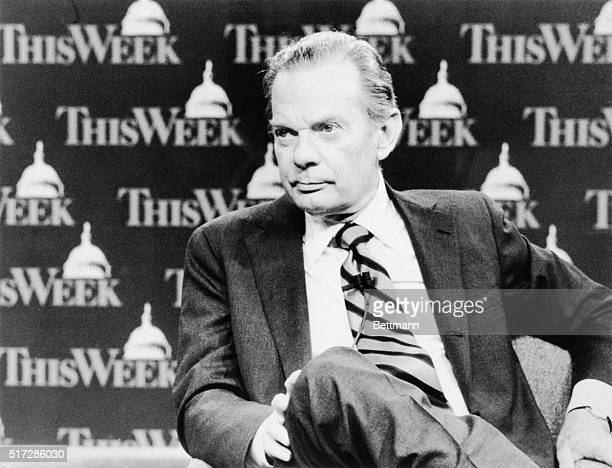 """News Correspondent David Brinkley, a 39 year veteran of broadcast news, marks his first year as host of """"This Week With David Brinkley,"""" on Sunday,..."""