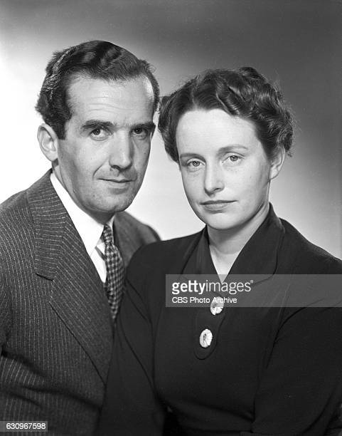News correspondent Edward R Murrow and his wife Janet Murrow Image dated March 1 1942 New York NY