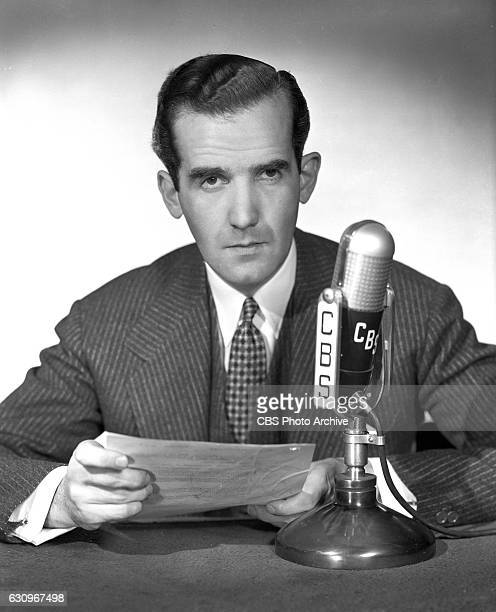 News correspondent Edward R Murrow Image dated March 1 1942 New York NY