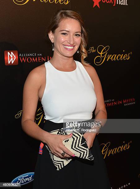 News correspondent Katy Tur arrives to the 39th Gracie Awards Gala at The Beverly Hilton Hotel on May 20 2014 in Beverly Hills California