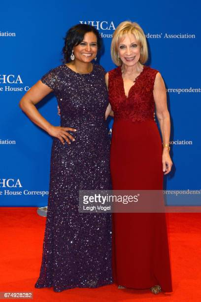 News Correspondent Kristen Welker and journalist Andrea Mitchell attend the 2017 White House Correspondents' Association Dinner at Washington Hilton...