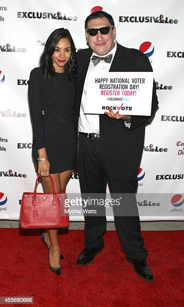 News Correspondent Nina Terrero and Founder Lee Hernandez attends the Exclusivleecom Launch Party>> at Stray Kat Gallery on September 18 2014 in New...