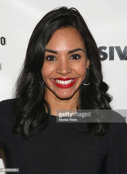 News Correspondent Nina Terrero attends the Exclusivleecom Launch Party>> at Stray Kat Gallery on September 18 2014 in New York City