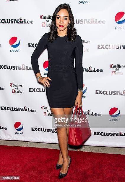 News Correspondent Nina Terrero attends the New York Launch party for Exclusivlee.com at Stray Kat Gallery on September 18, 2014 in New York City.