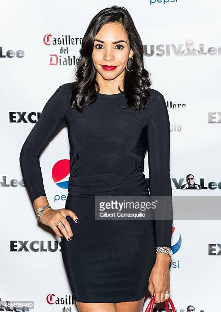News Correspondent Nina Terrero attends the New York Launch party for Exclusivleecom at Stray Kat Gallery on September 18 2014 in New York City