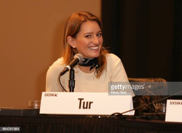 News correspondent of NBC Katy Tur speaks onstage at 'The War at Home Trump and the Mainstream Media' during 2017 SXSW Conference and Festivals at JW...