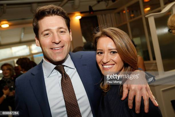 News Correspondent Tony Dokoupil and honoree and NBC News Correspondent Katy Tur attend ELLE and Bottega Veneta Women in Washington dinner hosted by...