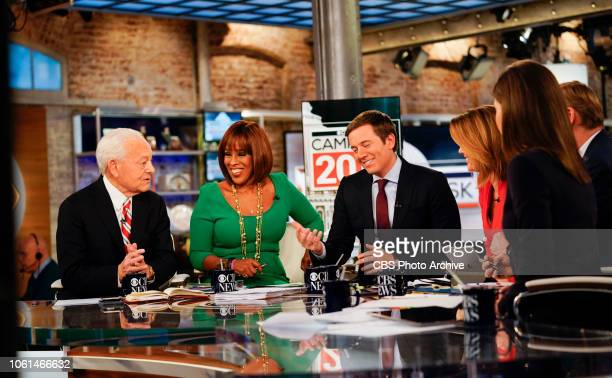 News coverage of Midterm Election 2018 Pictured L to R Bob Schieffer Gayle King Jeff Glor