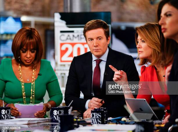 News coverage of Midterm Election 2018 Pictured L to R Gayle King Jeff Glor Norah O'Donnell and Bianna Golodryga
