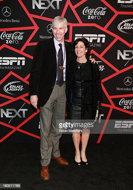 News' David Gregory and Beth Wilkinson attend ESPN The Magazine's NEXT Event at Tad Gormley Stadium on February 1 2013 in New Orleans Louisiana
