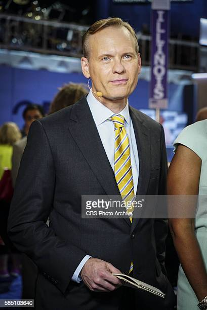 News' FACE THE NATION Anchor John Dickerson reports from the Democratic National Convention in Philadelphia on July 26 at the