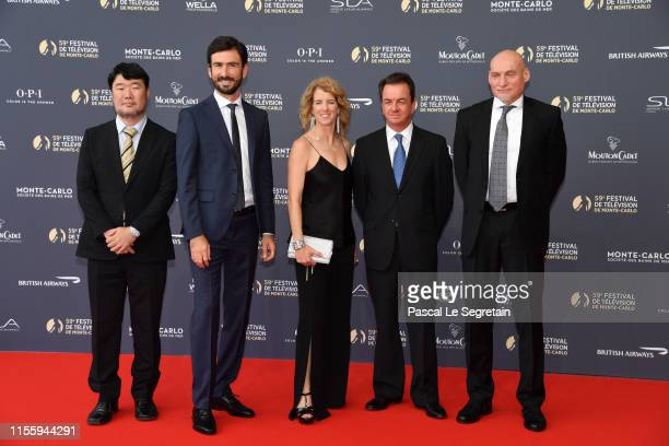 News feature jury members Masaru Zenke Luca Rosini Rory KennedyJohn Irvine and Paul Refsdal attend the opening ceremony of the 59th Monte Carlo TV...