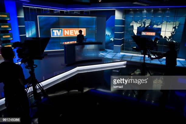 news filming studio - stage set stock pictures, royalty-free photos & images