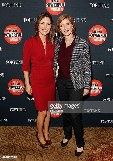 News Foreign Affairs Correspondent Margaret Brennan and US Ambassador to the United Nations Samantha Power attend Fortune's Most Powerful Women...