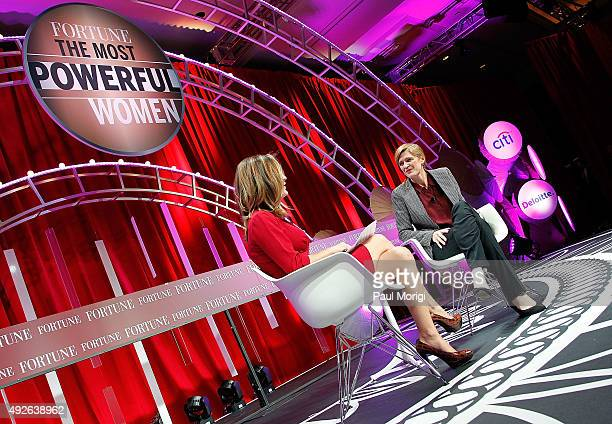 News Foreign Affairs Correspondent Margaret Brennan and US Ambassador to the United Nations Samantha Power speak onstage during Fortune's Most...