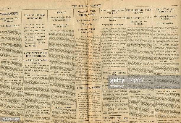 News from The British Gazette May 1926