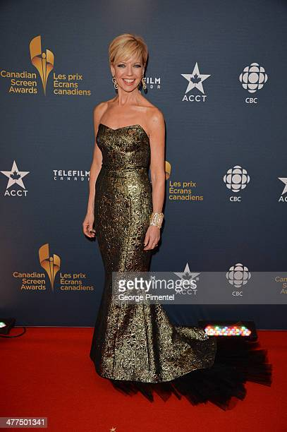 News Host Heather Hiscox arrives at the Canadian Screen Awards at Sony Centre for the Performing Arts on March 9 2014 in Toronto Canada