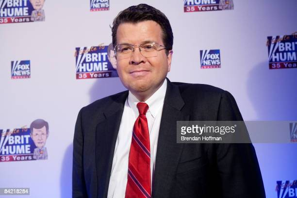 News host Neil Cavuto poses on the red carpet upon arrival at a salute to FOX News Channel's Brit Hume on January 8 2009 in Washington DC Hume was...