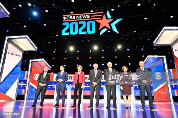 News hosts the 2020 Democratic Debate in Charleston SC on February 25 2020 Pictured Michael Bloomberg Pete Buttigieg Elizabeth Warren Bernie Sanders...