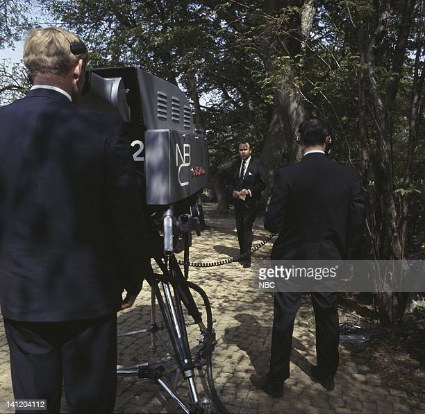 NBC News John F Kennedy Memorial Dedication by Queen Elizabeth II Air Date Pictured NBC News' Sander Vanocur reporting on the memorial dedication to...