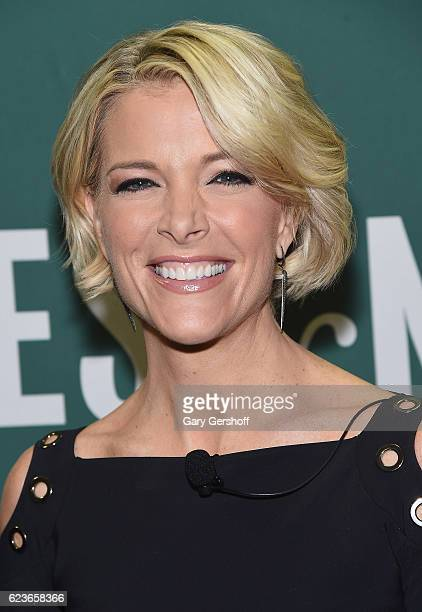 """News journalist and author Megyn Kelly signs copies of """"Settle For More"""" at Barnes & Noble Union Square on November 16, 2016 in New York City."""