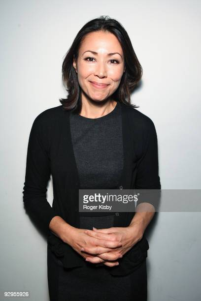 News journalist Ann Curry attends 'The Verbs' listening party at SPiN New York on November 9 2009 in New York City