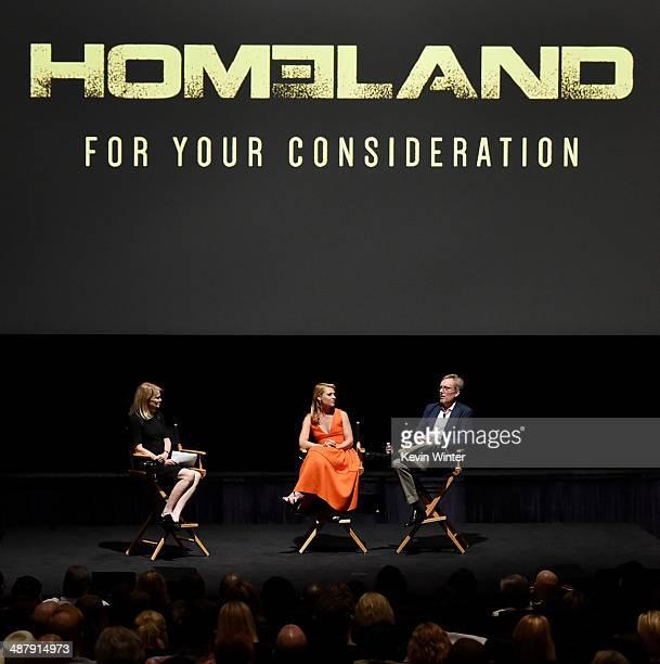 ABC News journalist Martha Raddatz actress Claire Danes and Executive Producer Alex Gansa appear at a screening of Showtime's Homeland Season 3...