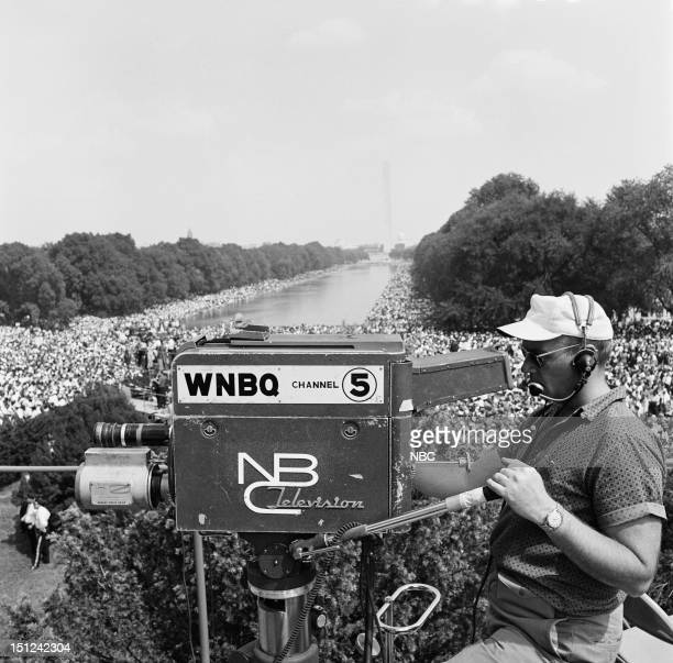 NBC News MARCH ON WASHINGTON FOR JOBS AND FREEDOM 1968 Pictured NBC News camera crew at the National Mall during the March on Washington for Jobs and...