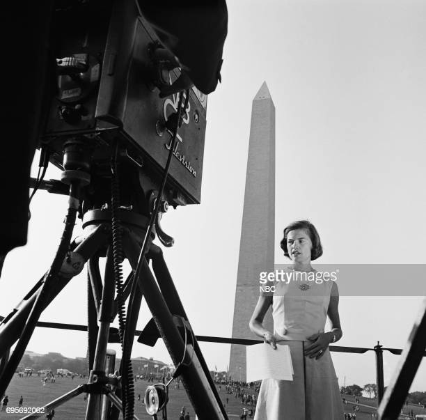 NBC News MARCH ON WASHINGTON FOR JOBS AND FREEDOM 1968 Pictured NBC News' Nancy Dickerson at the National Mall during the March on Washington for...