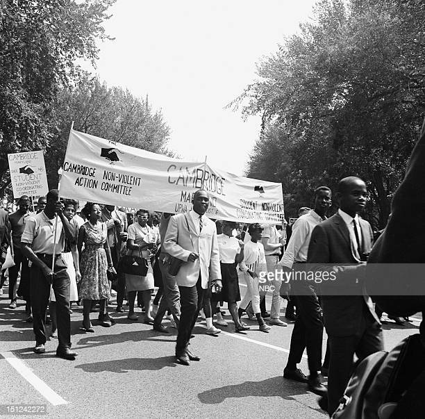 NBC News MARCH ON WASHINGTON FOR JOBS AND FREEDOM 1968 Pictured People marching during the March on Washington for Jobs and Freedom political rally...