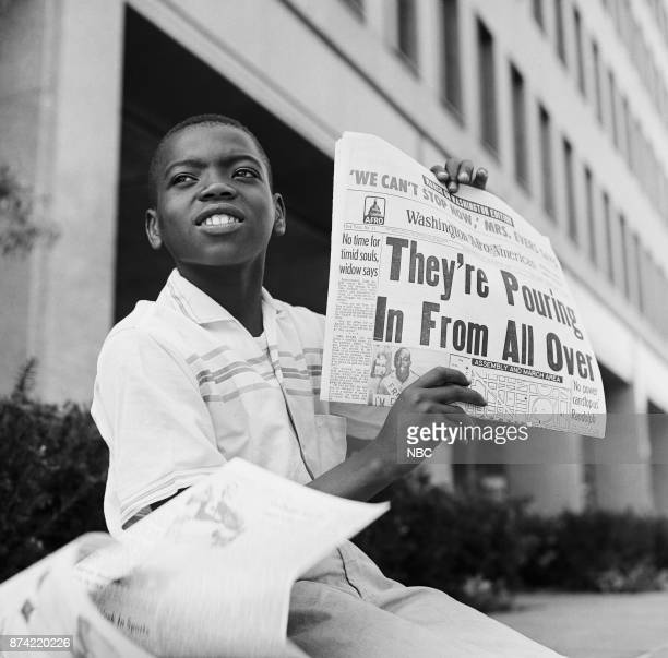 NBC News MARCH ON WASHINGTON FOR JOBS AND FREEDOM 1968 Pictured Young paperboy during the March on Washington for Jobs and Freedom political rally in...