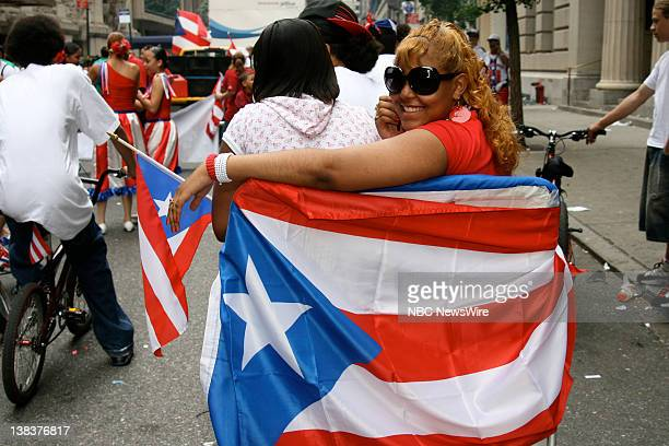NBC News National Puerto Rican Day Parade Inc Pictured The National Puerto Rican Day Parade and Cultural Festival on 152nd Street Bronx New York on...