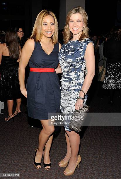 TV news personalities Dari Alexander and Jodi Applegate attend the Finding Your Roots New York premiere at Frederick P Rose Hall Jazz at Lincoln...