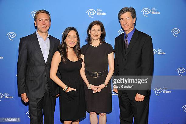 NY 1 news personalities Pat Kiernan Jamie Shupak Roma Torre and Budd Mishkin attend the 2012 Time Warner Cable Media Cabletime Upfront at Yotel on...