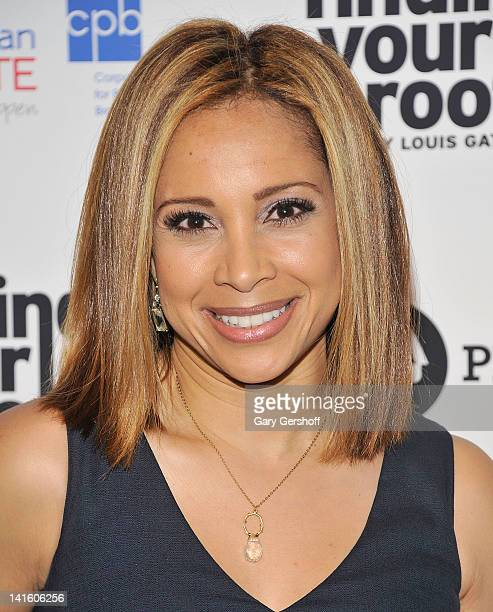 TV news personality Dari Alexander attends the Finding Your Roots New York premiere at Frederick P Rose Hall Jazz at Lincoln Center on March 19 2012...