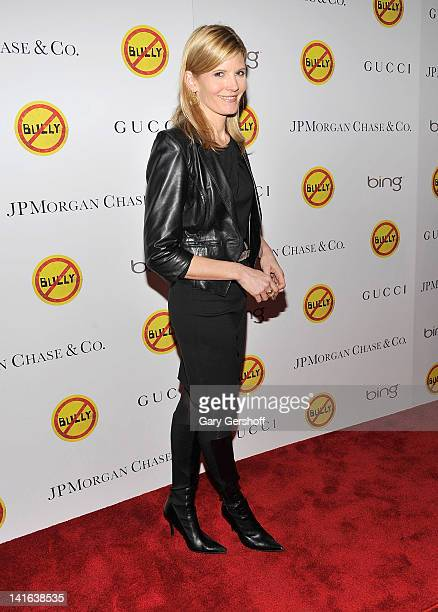 TV news personality Kate Snow attends the Bully screening at The Paley Center for Media on March 20 2012 in New York City