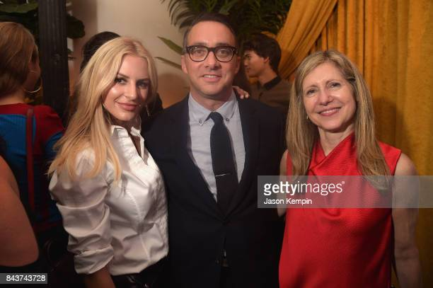 E News personality Morgan Stewart President of E Entertainment Adam Stotsky and President NBCU Lifestyle Networks NBCU Cable Entertainment Frances...