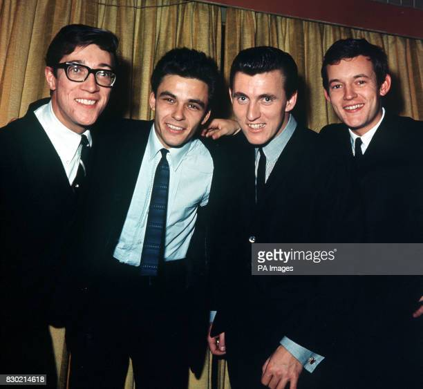 PA News Photo 12/11/63 A library file picture of 'The Shadows' from left to right Hank Marvin John Rostill Bruce Welch and Brian Bennett