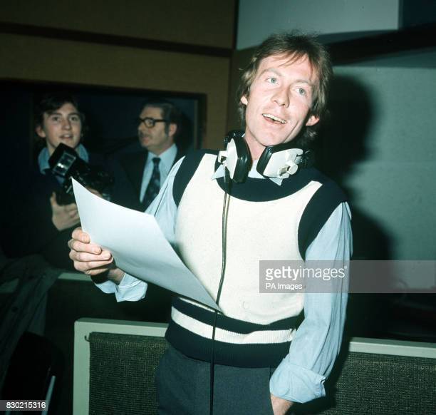 PA News Photo 15/2/78 Princess Margaret's friend Roddy Llewellyn during a recording session in his role as a pop singer at an Oxford Street studio in...