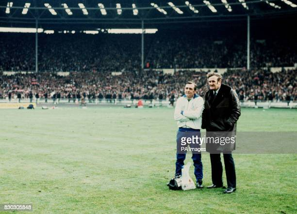 PA News Photo 5/5/73 Leeds united trainer Les Cocker and manager Don Revie after the FA Cup Final when Sunderland beat Leeds 10 at Wembley