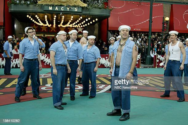 The cast of ' South Pacific' performs at the Macy's Thanksgiving Day Parade in Herald Square on November 28 2008