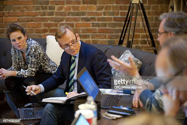 News Political Director and FACE THE NATION anchor John Dickerson and CBS staff prepare on Friday November 13 2015 for the CBS News Democratic...