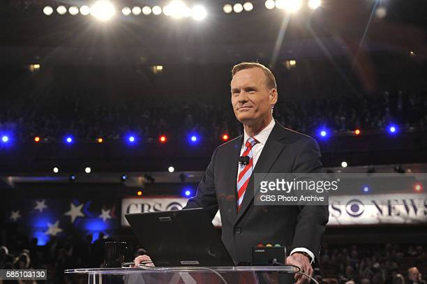 News Political Director and FACE THE NATION anchor John Dickerson moderates the CBS News Republican Presidential Debate at the Peace Center in...