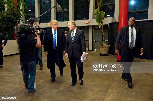News Political Director and FACE THE NATION anchor John Dickerson talks with GOP Presidential candidate Donald Trump in RaleighDurham North Carolina...