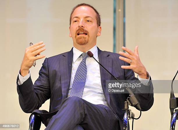 News Political Director and Moderator of Meet the Press NBC News Chuck Todd speaks onstage at the Road to the 2016 Election A Campaign Preview panel...